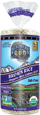 Lundberg Organic Brown Rice Cakes Unsalted - 241g