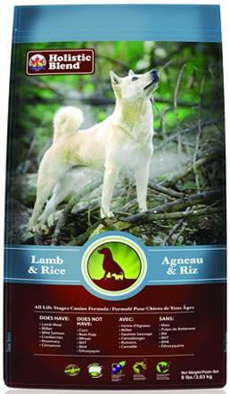 Holistic Blend Lamb & Rice Dog Food  - 8lb