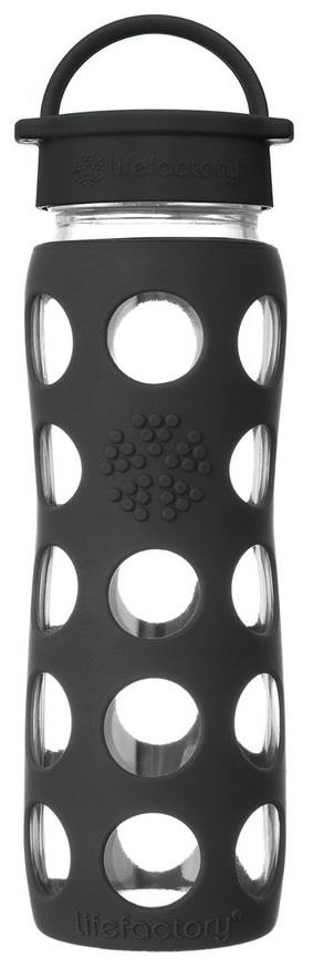 Life Factory Glass Water Bottle Black Onyx 22oz