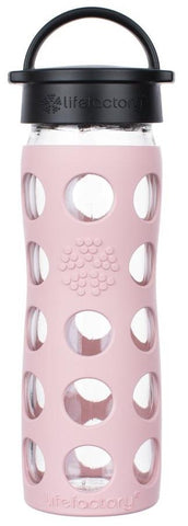 Life Factory Glass Water Bottle Pink Desert Rose 16oz