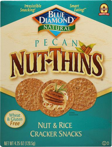 Blue Diamond Natural Pecan Nut-Thins® Cracker Snacks -- 4.25 oz