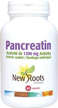 New Roots Pancreatin 1300mg 60 VCaps