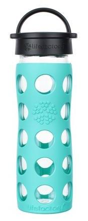 Life Factory Glass Water Bottle Blue Teal Lake 16oz