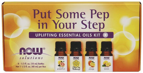 NOW Put Some Pep in Your Step Essential Oil Kit 4 x 10ml