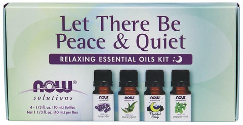 NOW Let There Be Peace & Quiet Essential Oil Kit 4 x 10ml
