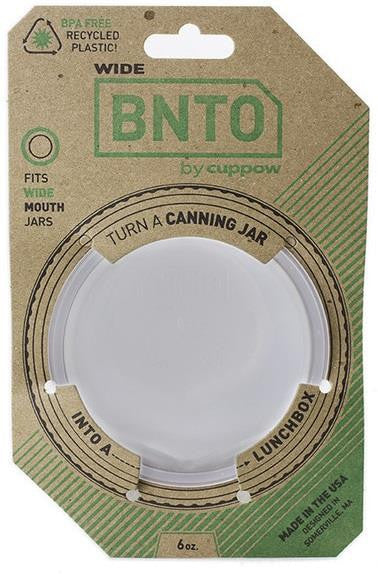 BNTO Canning Jar Lunch Adaptor Clear Wide Mouth - 6oz