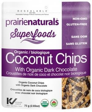 Prairie Naturals Organic Coconut Chips with Chocolate - 60g