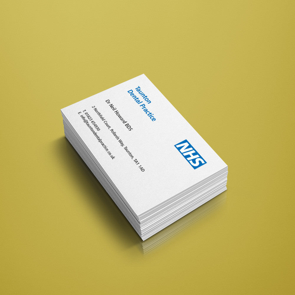 business cards nhs weknow dental