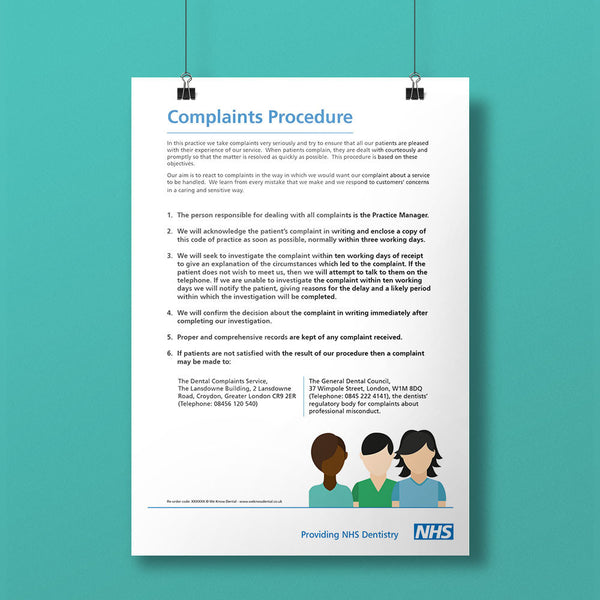 Complaints Policy Notice - NHS
