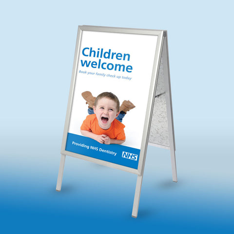 NHS New Patients Welcome A-board & Poster
