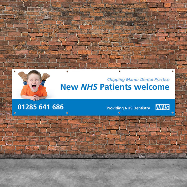 NHS New Patients Welcome Vinyl Banner