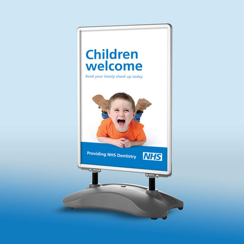 NHS New Patients Welcome Pavement Sign