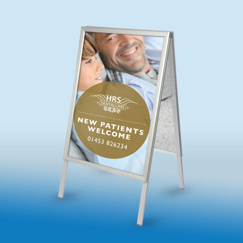 New Patients Welcome A-board & Poster