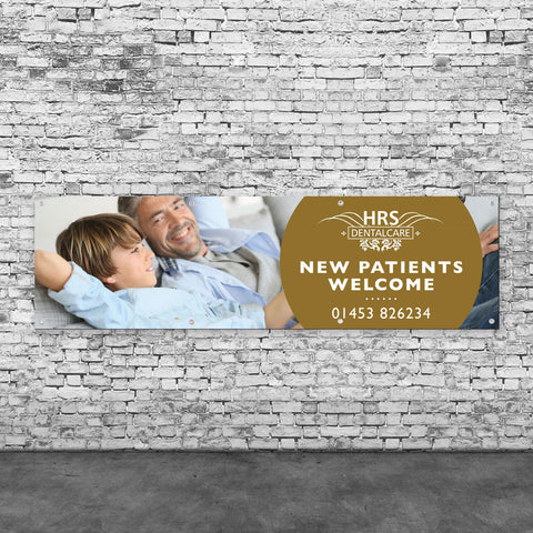 New Patients Welcome Vinyl Banner