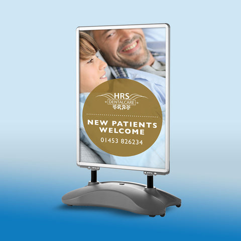 New Patients Welcome Pavement Sign