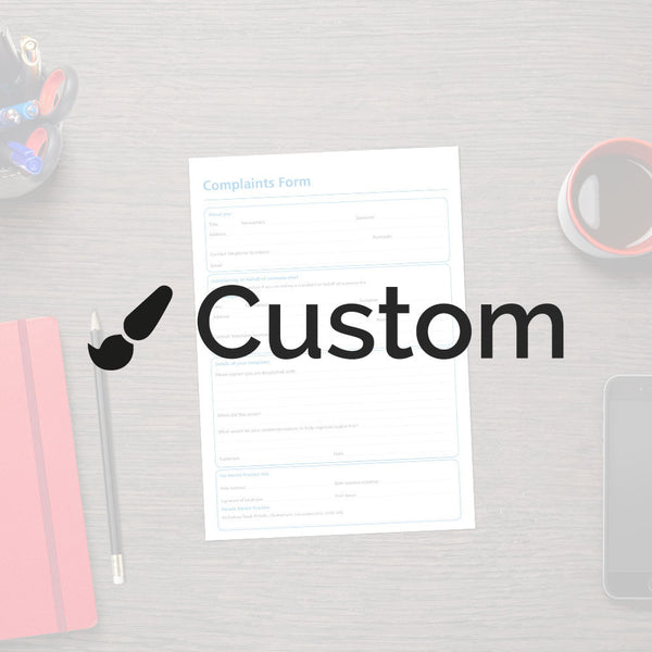 Forms and Guides - Custom