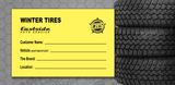 Custom Tire Info Sticker