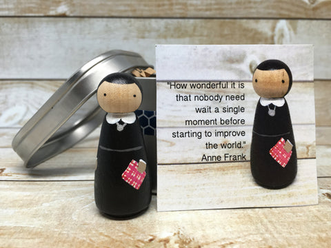 Anne Frank Peg Doll with Gift Tin