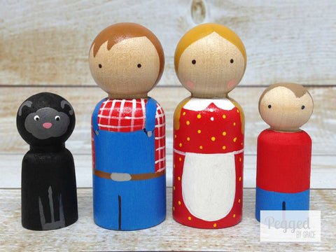 Baa Baa Black Sheep Peg Doll Set