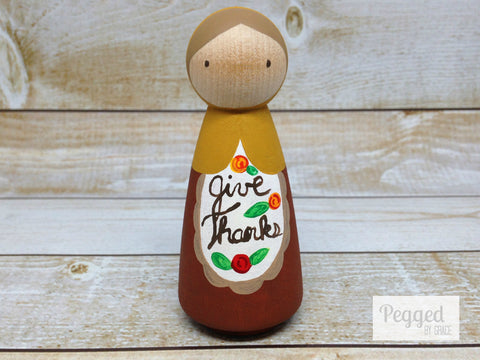 Give Thanks Peg Doll