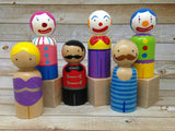 Circus Peg Doll Set - Set of 6