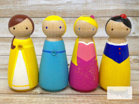 Classic Princesses Peg Doll Set