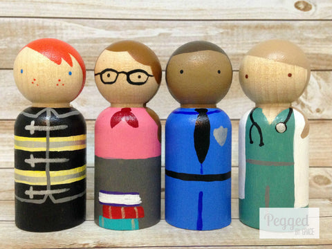 People In My Neighborhood Peg Doll Set