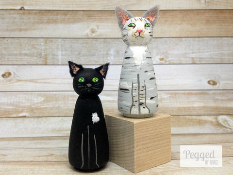 Custom Pet Peg Dolls - Two Pets