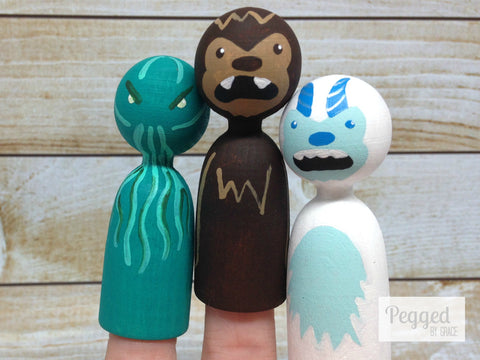 Friendly Monster Finger Puppets