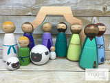 Modern Nativity Set