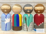 Old Testament Heroes Peg Dolls - Noah, Moses, Joseph, and Jonah
