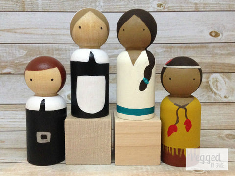 Thanksgiving Friends Peg Doll Set