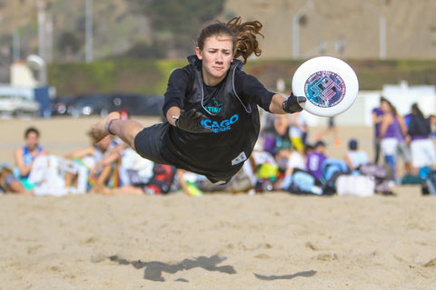 Layout Gloves Ultimate Frisbee  Beach Layout