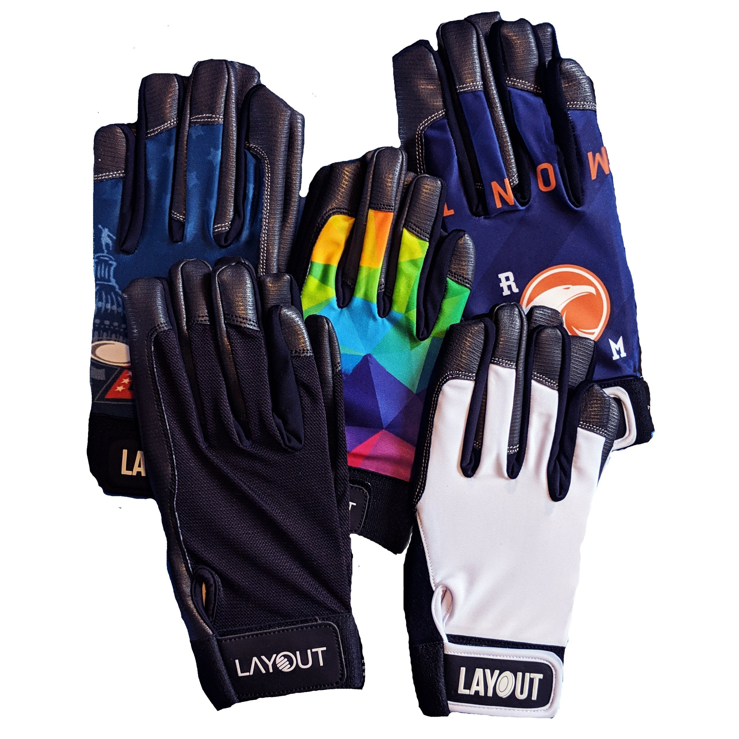 BLOWOUT L, XL, XXL Mystery Gloves! 2 Pairs - Layout Ultimate