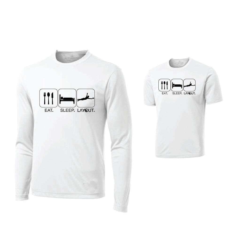 Eat, Sleep, Layout Jersey (SS or LS) - Layout Ultimate