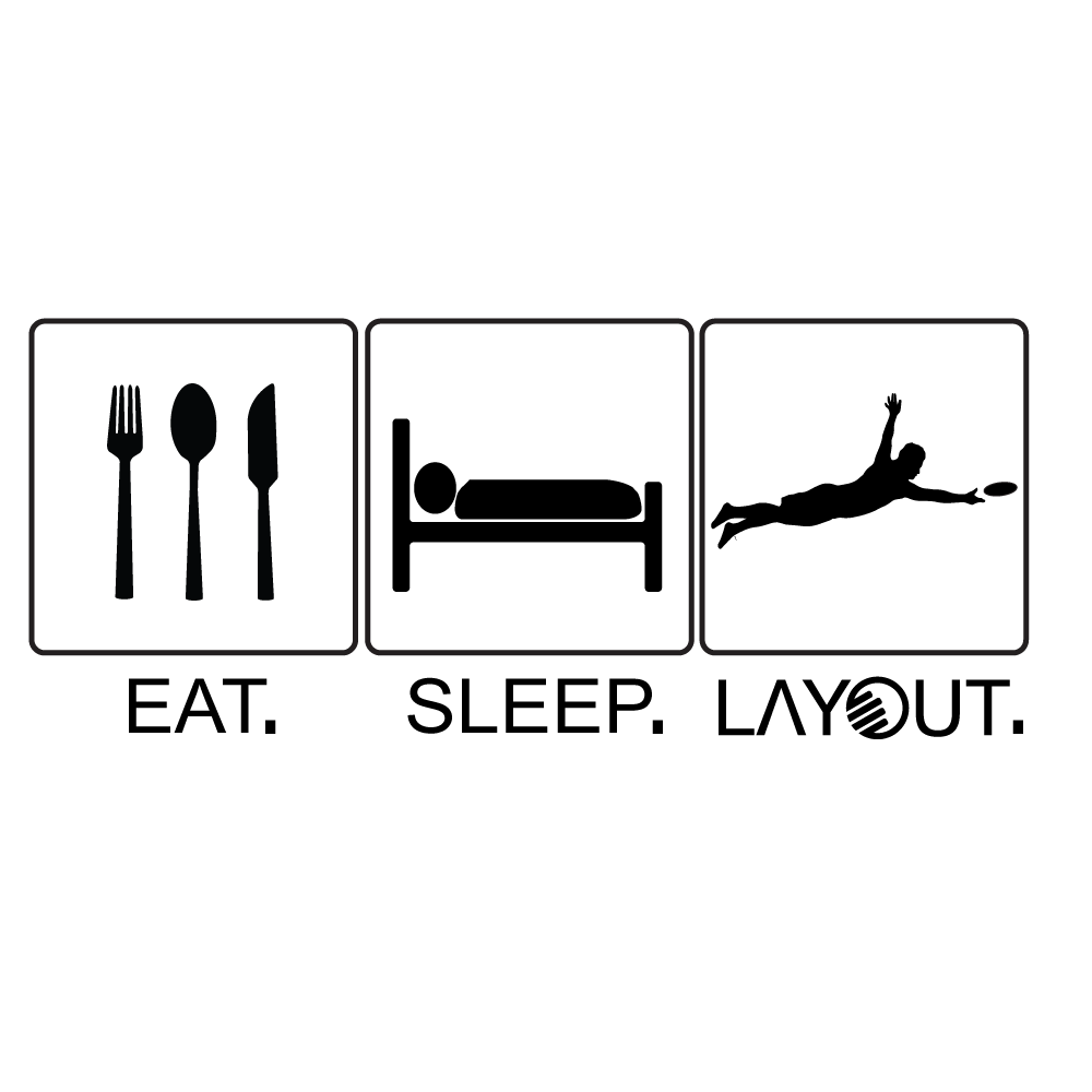 Eat, Sleep, Layout Sticker - Layout Ultimate