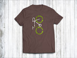 Recycling Men's T-Shirt in  Brown