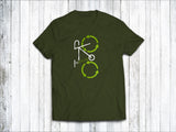Recycling Men's T-Shirt in Forest Green