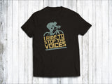 I Ride to Stop the Voices Men's T-Shirt in  Black