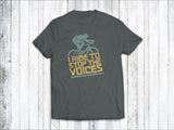 I Ride to Stop the Voices Men's T-Shirt in Charcoal Grey
