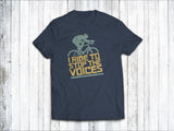 I Ride to Stop the Voices Men's T-Shirt in Denim Blue