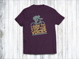 I Ride to Stop the Voices Men's T-Shirt in  Purple