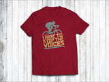 I Ride to Stop the Voices Men's T-Shirt in Stereo Red