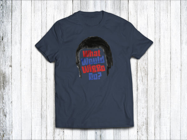 What Would Wiggo Do? Men's T-Shirt in Denim Blue