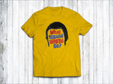 What Would Wiggo Do? Men's T-Shirt in Sunshine Yellow