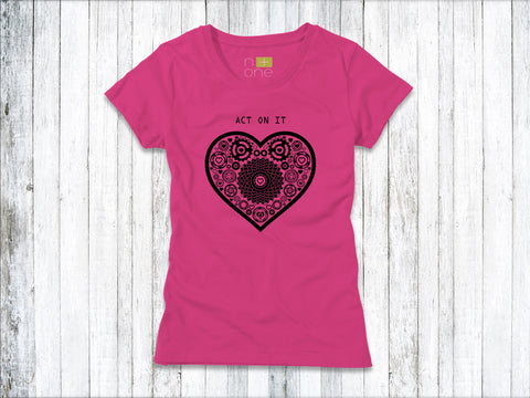 Act on It - Black Heart Women's T-Shirt