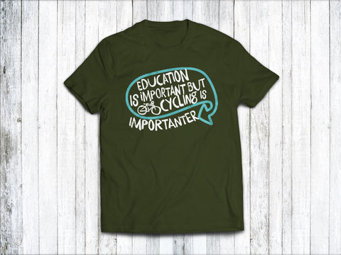 Education is Important  Men's T-Shirt in Forest Green