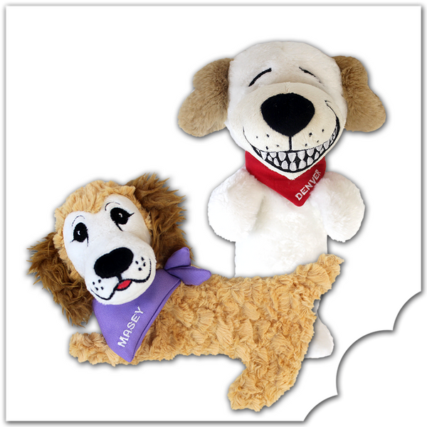 Denver the Guilty Dog & Masey - Dog Toy Set