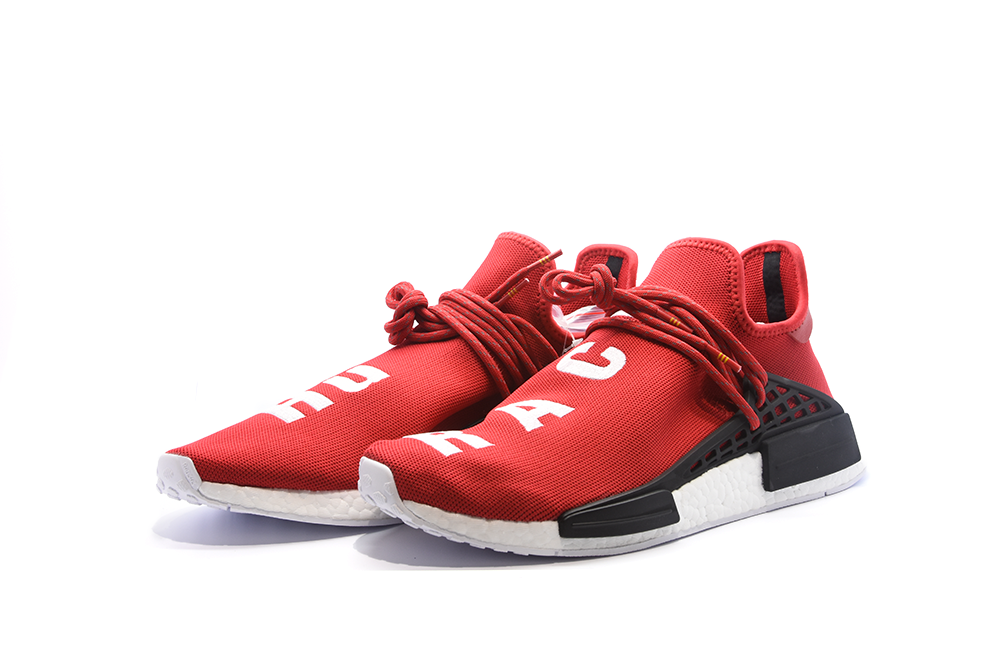 10b43edb4e3220 Pharrell X adidas NMD Human Race Red Adidas NMD shoes