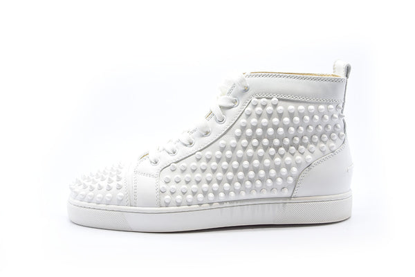 Christian Louboutin	white spike sneakers